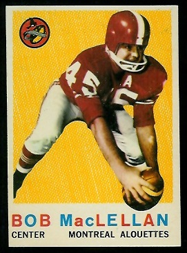 1959 Topps CFL #33 - Bob MacLellan - nm