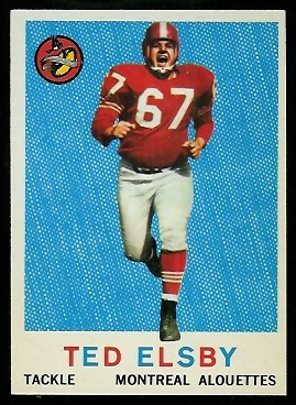 1959 Topps CFL #34 - Ted Elsby - nm