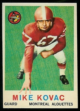 1959 Topps CFL #35 - Mike Kovac - nm+