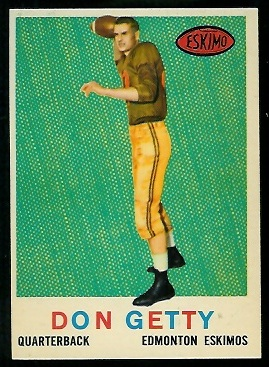 1959 Topps CFL #39 - Don Getty - nm