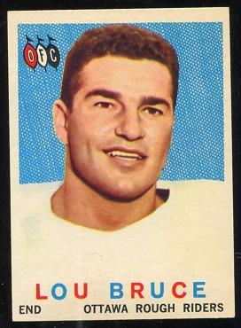 1959 Topps CFL #53 - Lou Bruce - nm+