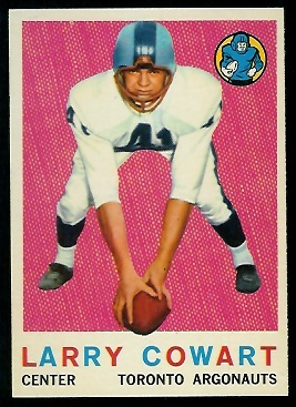 1959 Topps CFL #59 - Larry Cowart - nm+