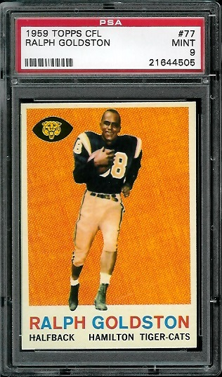 1959 Topps CFL #77 - Ralph Goldston - PSA 9