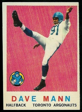 1959 Topps CFL #60 - Dave Mann - nm