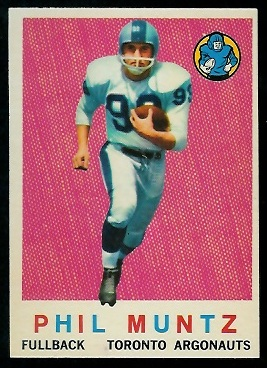 1959 Topps CFL #65 - Phil Muntz - nm+ oc