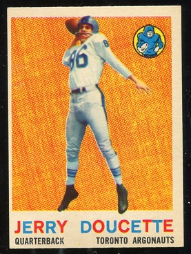 1959 Topps CFL #66 - Jerry Doucette - exmt