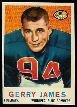 1959 Topps CFL #7 - Gerry James - nm