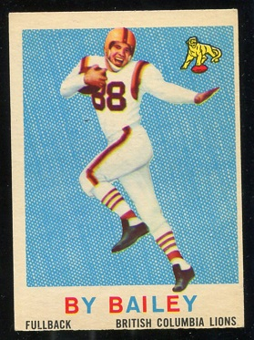 1959 Topps CFL #8 - By Bailey - ex