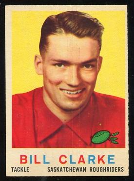 1959 Topps CFL #80 - Bill Clarke - ex