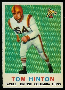 1959 Topps CFL #9 - Tom Hinton - nm