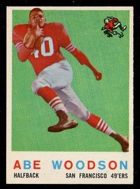 1959 Topps #102 - Abe Woodson - nm