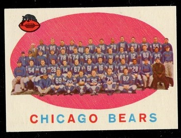 1959 Topps #104 - Chicago Bears Team - nm