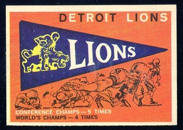 1959 Topps #139 - Lions Pennant - nm+