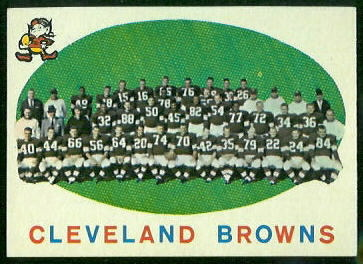 1959 Topps #161 - Cleveland Browns Team - nm