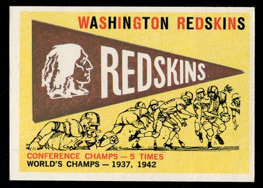 1959 Topps #168 - Redskins Pennant - exmt