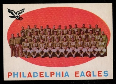 1959 Topps #31 - Philadelphia Eagles Team - nm+