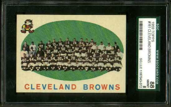 1959 Topps #161 - Cleveland Browns Team - SGC 88