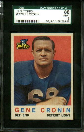 1959 Topps #66 - Gene Cronin - SGC 88