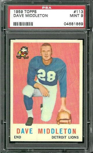 1959 Topps #113 - Dave Middleton - PSA 9
