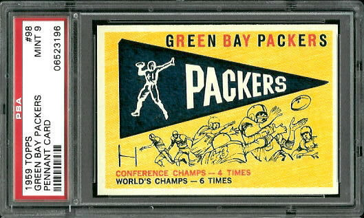 1959 Topps #98 - Packers Pennant - PSA 9