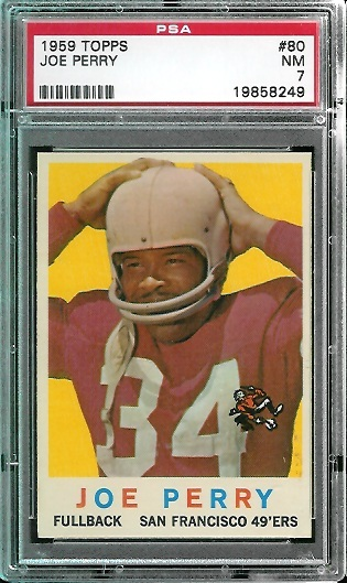 1959 Topps #80 - Joe Perry - PSA 7