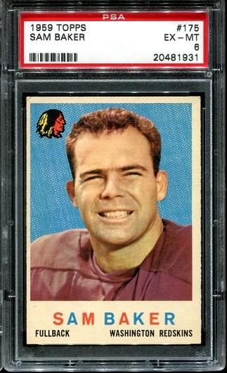 1959 Topps #175 - Sam Baker - PSA 6