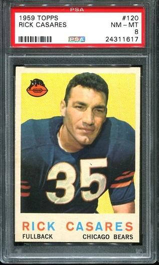 1959 Topps #120 - Rick Casares - PSA 8