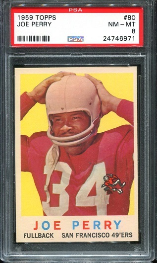 1959 Topps #80 - Joe Perry - PSA 8