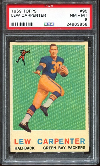 1959 Topps #95 - Lew Carpenter - PSA 8