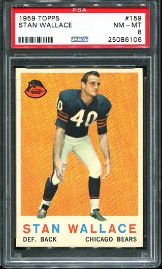 1959 Topps #159 - Stan Wallace - PSA 8