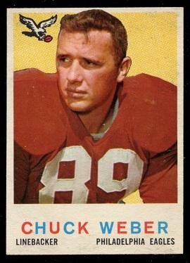 1959 Topps #94 - Chuck Weber - nm