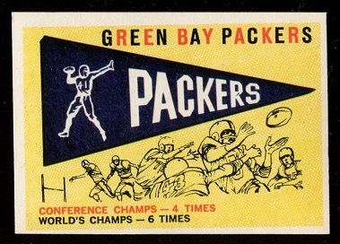 1959 Topps #98 - Packers Pennant - nm oc