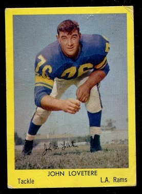 1960 Bell Brand Rams #11 - John LoVetere - good