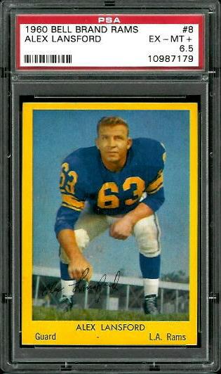 1960 Bell Brand Rams #8 - Buck Lansford - PSA 6.5