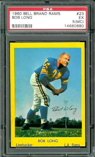 1960 Bell Brand Rams #23 - Bob Long - PSA 5 mc
