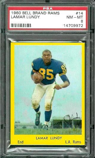 1960 Bell Brand Rams #14 - Lamar Lundy - PSA 8