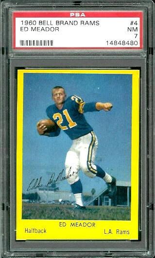 1960 Bell Brand Rams #4 - Ed Meador - PSA 7