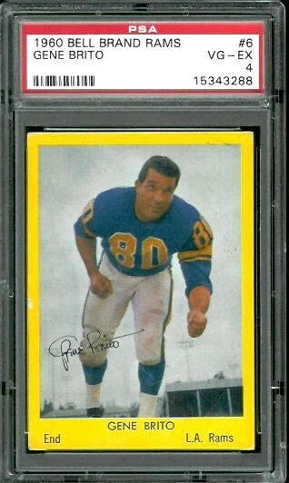 1960 Bell Brand Rams #6 - Gene Brito - PSA 4
