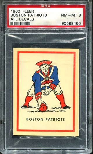 1960 Fleer AFL Team Decals #2 - Patriots Logo - PSA 8