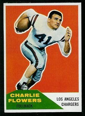1960 Fleer #102 - Charlie Flowers - exmt