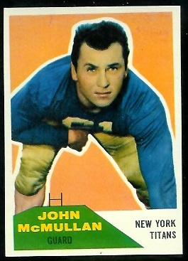 1960 Fleer #103 - John McMullan - nm