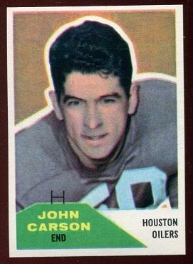 1960 Fleer #107 - John Carson - nm