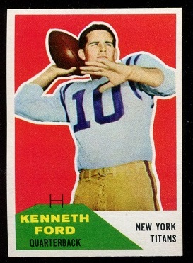 1960 Fleer #50 - Ken Ford - nm