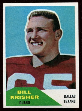 1960 Fleer #53 - Bill Krisher - nm