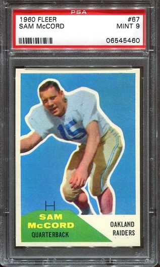 1960 Fleer #67 - Sam McCord - PSA 9