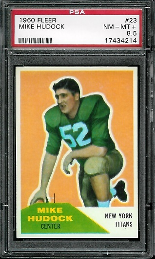 1960 Fleer #23 - Mike Hudock - PSA 8.5