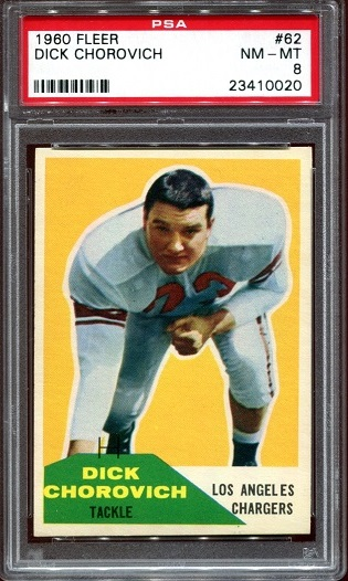 1960 Fleer #62 - Dick Chorovich - PSA 8