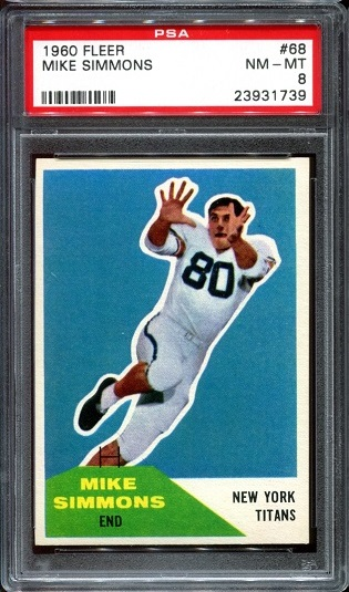 1960 Fleer #68 - Mike Simmons - PSA 8