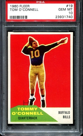 1960 Fleer #19 - Tom O'Connell - PSA 10