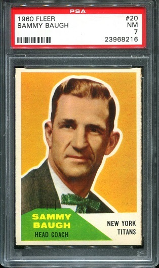 1960 Fleer #20 - Sammy Baugh - PSA 7